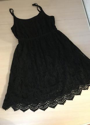 Черное вечернее мини платье