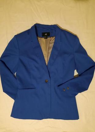 Пиджак,жакет цвета электрик от h&m