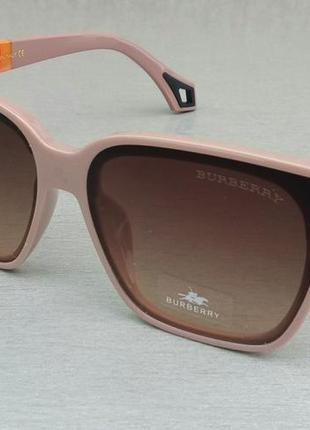 Burberry очки женские большие коричнево кремовые с градиентом