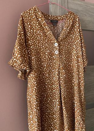 Очень легкое платье-рубашка в анимал принт2 фото