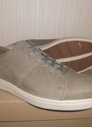 Кожаные туфли - мокасины clarks р.43. новые