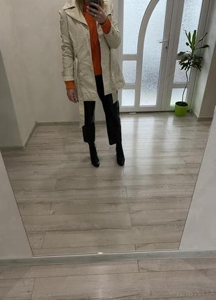 Collection-плащ-трэнч)базовый однобортный плащ средней длины)