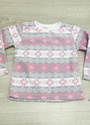 Флисовая пижамная кофта на 5-6 лет