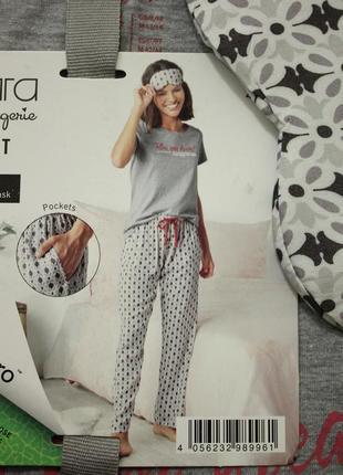 Домашний костюм, пижама (футболка+штаны+маска) esmara/ германия