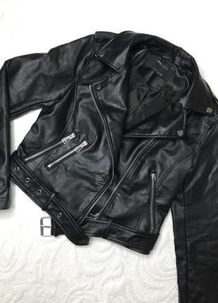 Новая куртка косуха из искусственной кожи, размер хл
