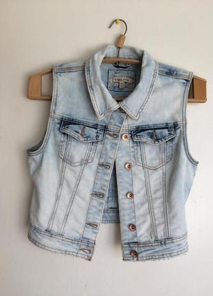 Джинсовка, джинсовая жилетка