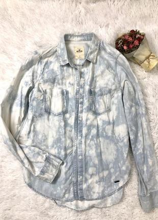 Трендовая рубашка, джинсовая рубашка, сорочка джинсовая, тренд