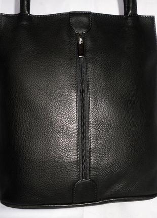 Стильная обьемная сумка натуральная кожа vera pelle