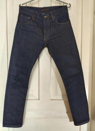 Nudie jeans raw selvedge denim джинси нуді селвідж
