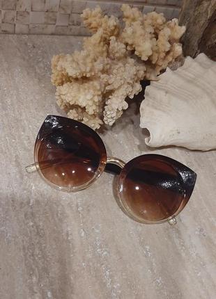 Стильные очки лисички / очки солнцезащитные /