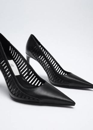 Шикарные туфли лодочки на шпильке zara