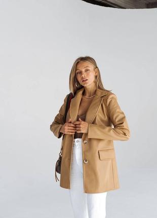 Пиджак эко кожа