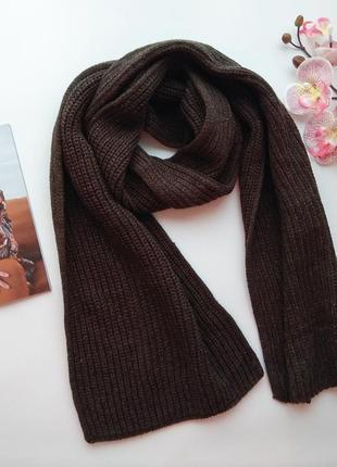 Зимний вязаный шарф хаки от h&m