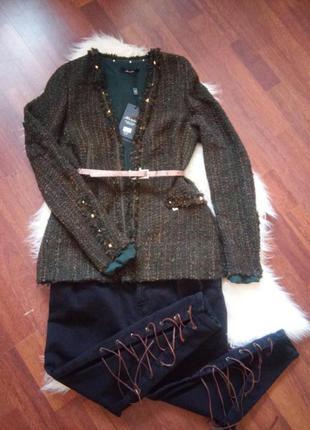 Пиджак твидовый...очень крутой италия
