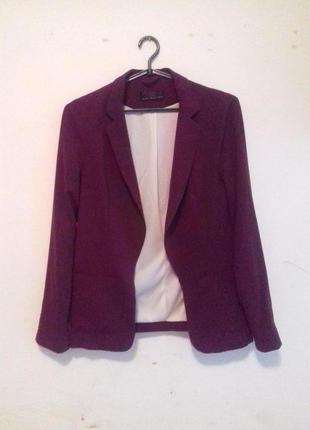 Классический пиджак цвет марсала от new look