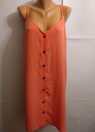 Легкий сарафан платье трендовые пуговицы 20/54-56 размера