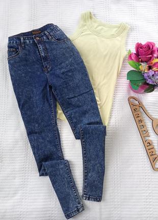 Джинси/джинсы с высокой посадкой