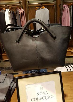 Шкіряна сумка-шопер, бренд massimo dutti! оригінал, з португалії!
