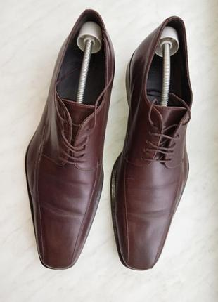 """Р.10 """"hugo boss"""" натуральная кожа туфли"""