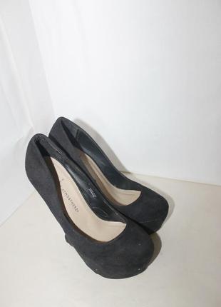 Туфли замшевые на каблуке оригинальные