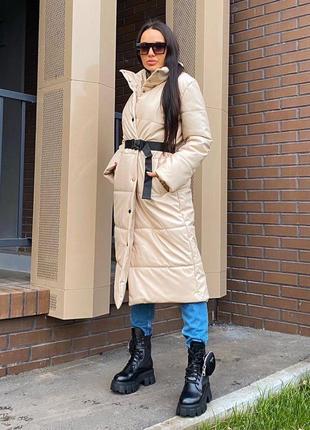 Длинные пуховые пальто