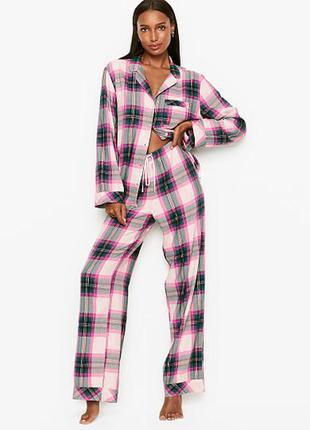 Фланелевая пижама одежда для дома виктория сикрет