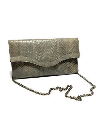 Кожаная сумка клатч кожа змеи