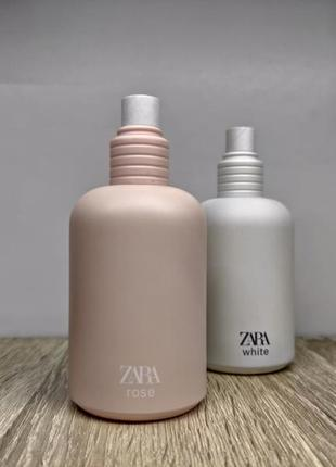 Zara white/zara rose/парфуми.2 фото