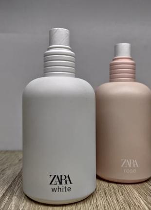 Zara white/zara rose/парфуми.3 фото