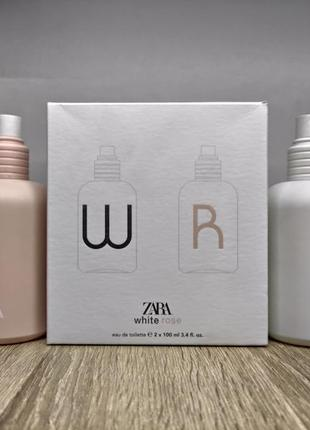Zara white/zara rose/парфуми.4 фото