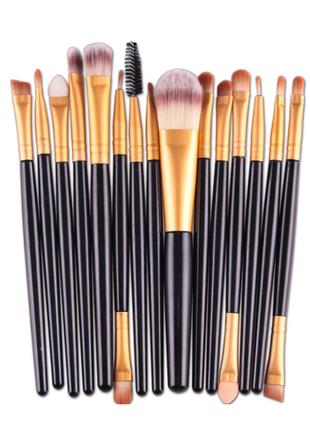 15 шт. набор кистей для макияжа 13-15 см