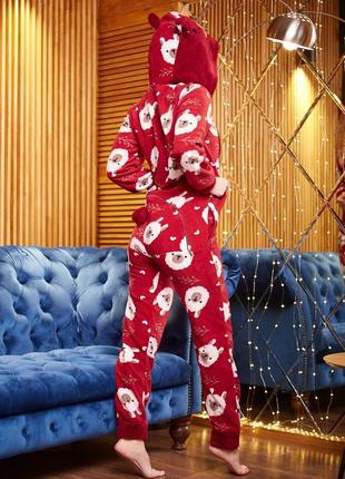 Пижама комбинезон с карманом на попе (попожама) popojama подарок девушке на 8 марта