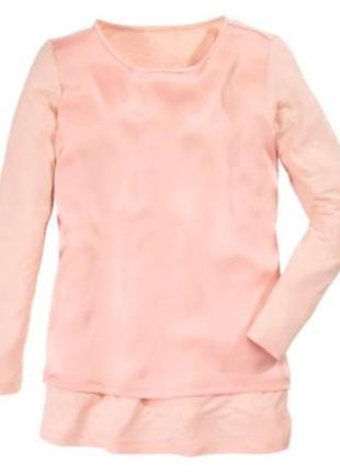Розовая блуза длинный рукав от blue motion/100064