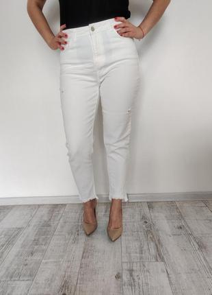 Женские джинсы mom белые 44-46