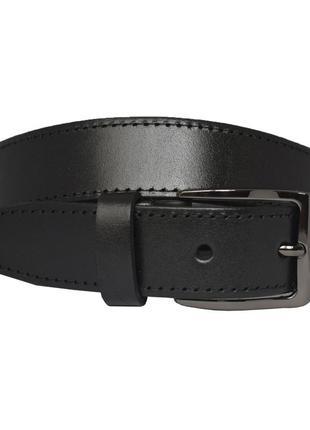 Ремень женский кожаный прошитый со строчкой черный под джинсы jane2