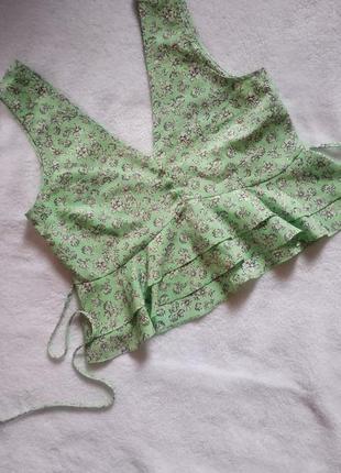 Стильная блуза топ в цветочный принт