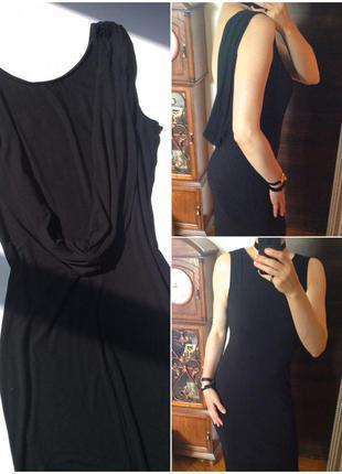 ✨стильное чёрное  платье футляр с открытой спинкой asos
