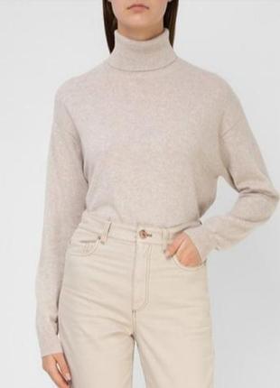 Кашемировый свитер гольф 100% кашемир италия.