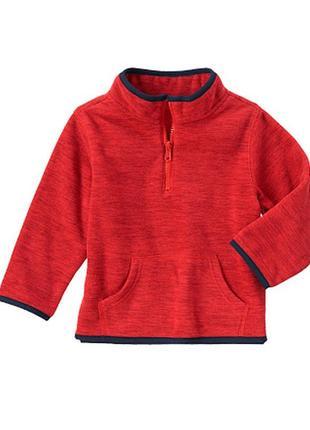 Флисовая красная кофта gymboree