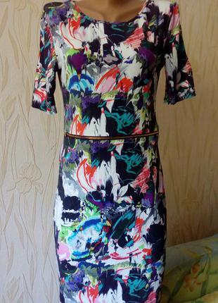 Стильное яркое трикотажное платье-трансформер topshop.