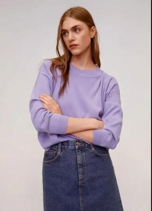 Свитшот свитер оверсайз 100% шерсть diadora