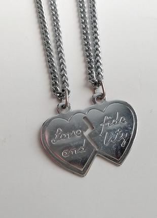 Парные кулоны для влюбленных  любовь и верность навсегда