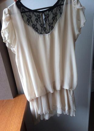 Шифоновая блузка-туника river island