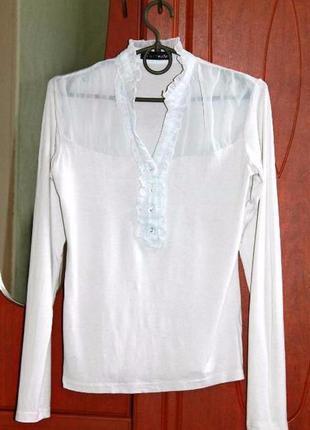Новая школьная белая блуза размер: 42р, 44р, 46р.