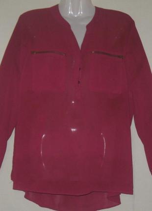 Блузка женская бордовая шифоновая. большой размер. пог – 60 см