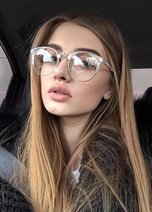 Очки имиджевые прозрачные
