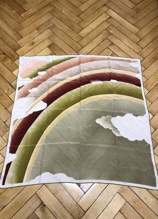 Оригинальный роскошный шелковый платок шарф hermes davinci