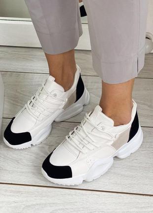 🖤🤍 стильные черно белые кроссовки