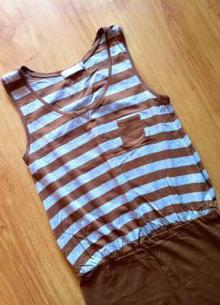 Платье сарафан полосатое