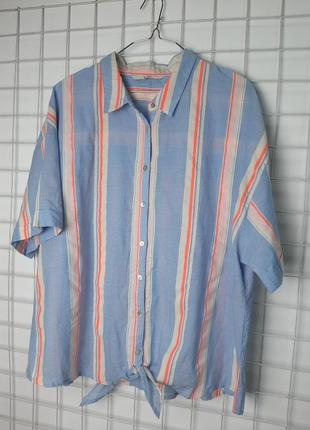 Рубашка в полосочку с короким рукавом